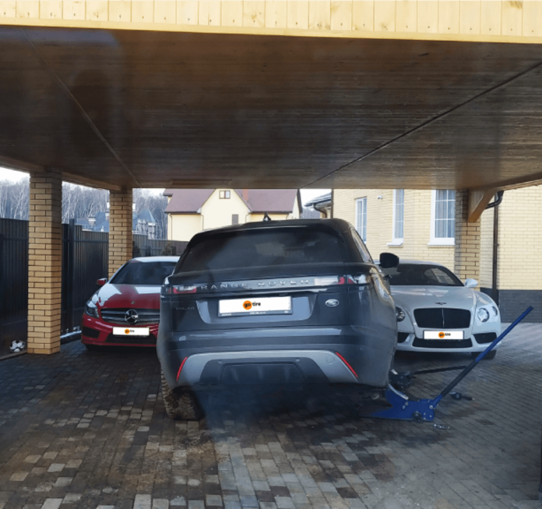 Сезонная замена шин для Range Rover, Bentley и Mercedes: