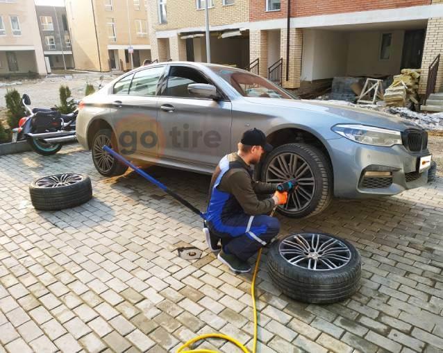 Сезонная замена шин BMW GT