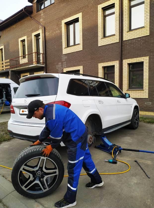 Сезонная замена шин Mercedes GL