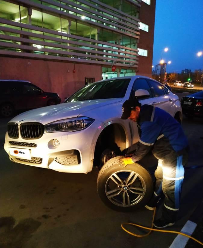 Сезонная замена шин BMW X6