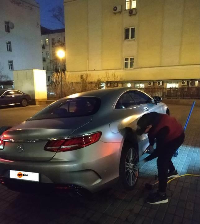 Сезонная замена шин Mercedes Coupe